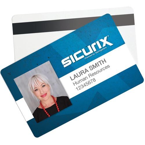 "SICURIX PVC ID Card - 2.12"" (53.85 mm) x 3.37"" (85.60 mm) Length - 100 - White"