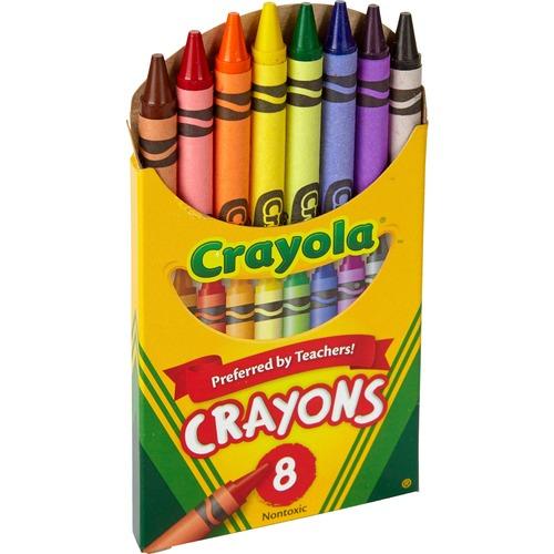 "Crayola Tuck Box Classic Childrens Crayons - 3.63"" (92.08 mm) Length - 0.31"" (7.94 mm) Diameter - Assorted"