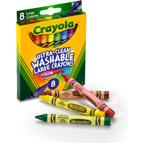 Box Advance Office Count Crayola Assorted Large Crayons 8 XZOiPku