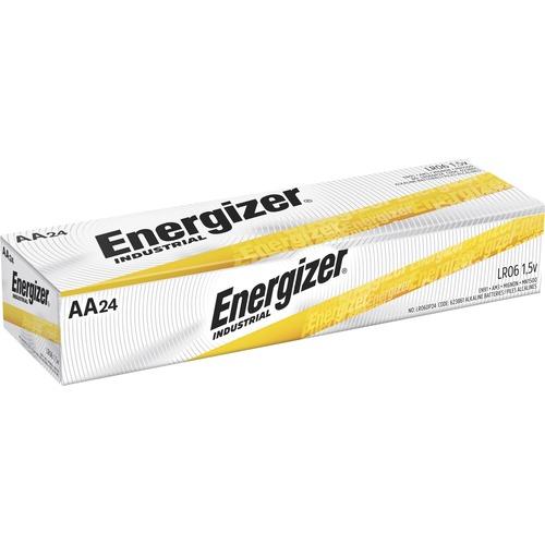 Energizer Industrial Alkaline AA Batteries, 24 pack - For Multipurpose - AA - 1.5 V DC - 2779 mAh - Alkaline - 24 / Box