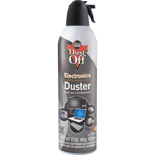 Falcon Dust-Off Jumbo Disposable Dusters - Ozone-safe, Moisture-free - 1 Each - Gray