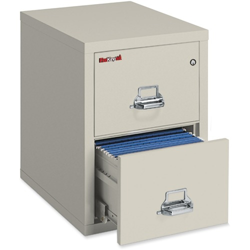 """FireKing Insulated File Cabinet - 2-Drawer - 17.8"""" x 25"""" x 52.8"""" - 2 x Drawer(s) for File - Letter - Fire Resistant - Parchment - Powder Coated - Steel"""