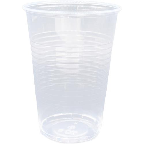 Genuine Joe Translucent Plastic Beverage Cups - 200 / Sleeve - 266.16 mL - 2400 / Carton - Clear - Plastic - Cold Drink