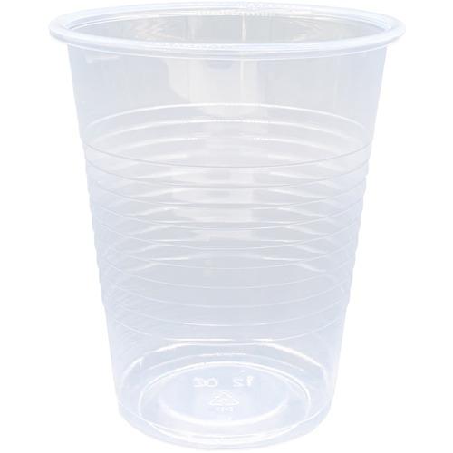 Genuine Joe Translucent Plastic Beverage Cups - 100 / Sleeve - 354.88 mL - 1000 / Carton - Clear - Plastic - Cold Drink