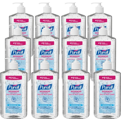 PURELL® Sanitizing Gel - 20 fl oz (591.5 mL) - Pump Bottle Dispenser - Hand - Clear - 12 / Carton