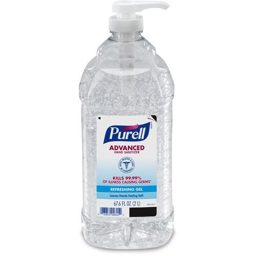PURELL® Sanitizing Gel - 67.6 fl oz (2 L) - Pump Bottle Dispenser - Hand - Clear - 1 Each