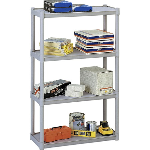 "Iceberg Rough 'N Ready 4-Shelf Open Storage System - 32"" x 13"" x 54"" - 4 x Shelf(ves) - 300 lb Load Capacity - Scratch Resistant, Rust Proof, Dent Pro"