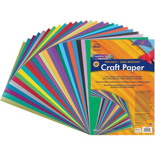 """Fadeless Designer Art Paper Sheets - Art - 12"""" (304.80 mm)Width x 18"""" (457.20 mm)Length - 100 / Pack - Assorted"""