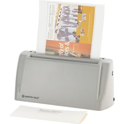 Martin Yale Premier Electric Desktop Letter Folder - 2200 Sheets/hour - C Fold - Gray