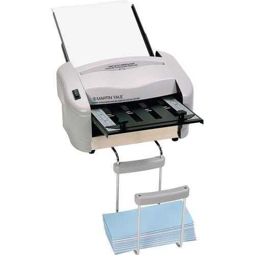 "Martin Yale Premier Rapidfold 8-1/2"" x 11"" Desktop Auto Folder - 4000 Sheets/hour - Half-fold, Letter Fold - Gray"