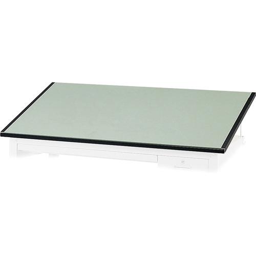 "Safco Precision Drafting Table Top - Green Rectangle, Melamine Top - Enamel Base - 37.5"" Table Top Length x 60"" Table Top Width x 1"" Table Top Thickness - Assembly Required"