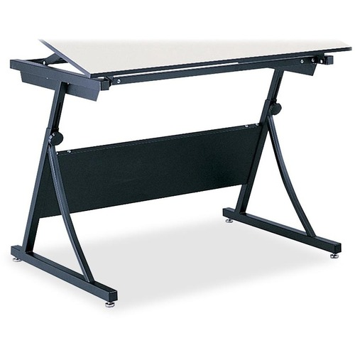 """Safco PlanMaster Adjustable Drafting Table Base - Black Base - 37.5"""" Height x 43"""" Width x 29.5"""" Depth - Assembly Required"""
