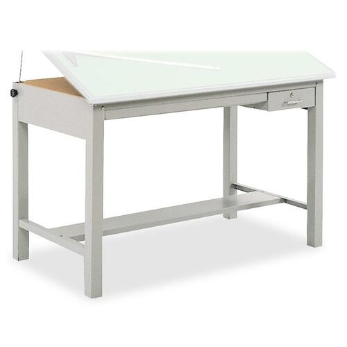 """Safco Precision Drafting Table Base - Enamel Four Leg Base - 35.5"""" Height x 56.4"""" Width x 30.5"""" Depth - Assembly Required - Gray - Steel"""