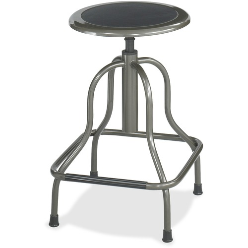 Lorell 16 Quot Round Seat Pneumatic Height Stool 275 Lb Load
