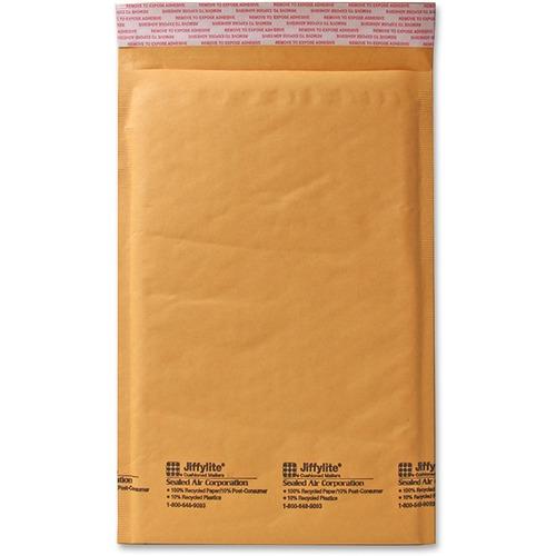 "Sealed Air JiffyLite Cellular Cushioned Mailers - Bubble - #0 - 6"" Width x 10"" Length - Peel & Seal - Kraft - 25 / Carton - Kraft"