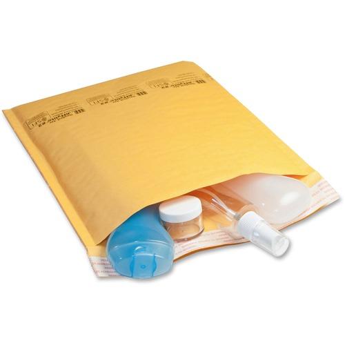 "Sealed Air JiffyLite Cellular Cushioned Mailers - Bubble - #6 - 12 1/2"" Width x 19"" Length - Peel & Seal - Kraft - 25 / Carton - Kraft"