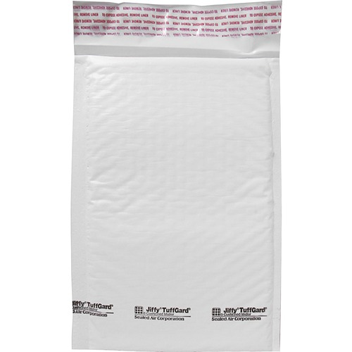 """Sealed Air Tuffgard Premium Cushioned Mailers - Bubble - #0 - 6"""" Width x 10"""" Length - Peel & Seal - Poly - 25 / Carton - White"""