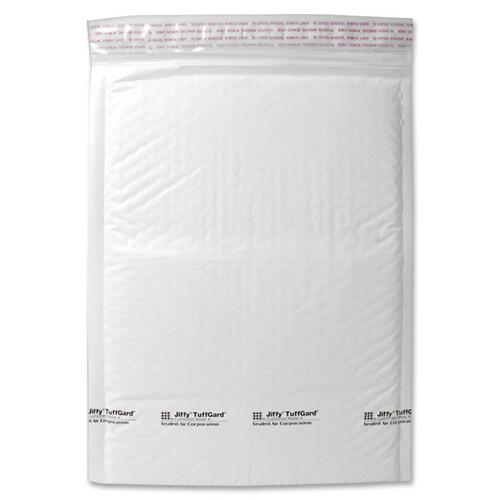"""Sealed Air Tuffgard Premium Cushioned Mailers - Bubble - #2 - 8 1/2"""" Width x 12"""" Length - Peel & Seal - Poly - 25 / Carton - White"""