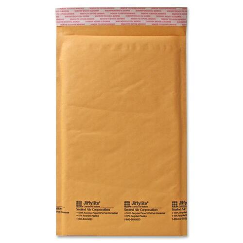 "Sealed Air JiffyLite Cellular Cushioned Mailers - Bubble - #3 - 8 1/2"" Width x 14 1/2"" Length - Peel & Seal - Kraft - 100 / Carton - Kraft"