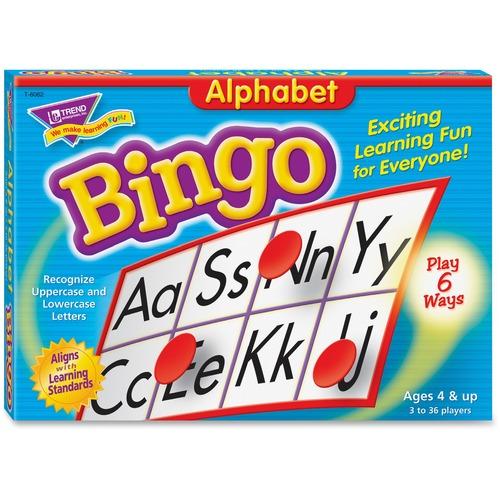 Trend Alphabet Bingo Learning Game - Theme/Subject: Learning - Skill Learning: Alphabet - 4-6 Year