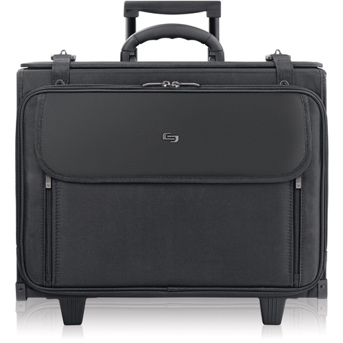 """Solo Classic Carrying Case (Roller) for 15.4"""" to 17"""" Notebook - Black - Ballistic Poly, Polyester - Checkpoint Friendly - Handle - 13.50"""" (342.90 mm) Height x 17.50"""" (444.50 mm) Width x 7"""" (177.80 mm) Depth - 1 Pack"""