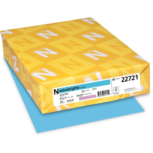 """Neenah Astrobrights Paper - Letter - 8 1/2"""" x 11"""" - 65 lb Basis Weight - Smooth - 250 / Pack - FSC, Green Seal"""