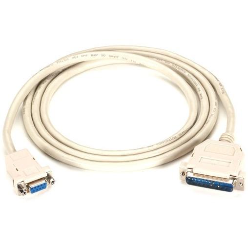 1 x DB-9 Male Serial 10 ft 1 x DB-9 Female Seri Serial Black Box Serial Data Transfer Cable