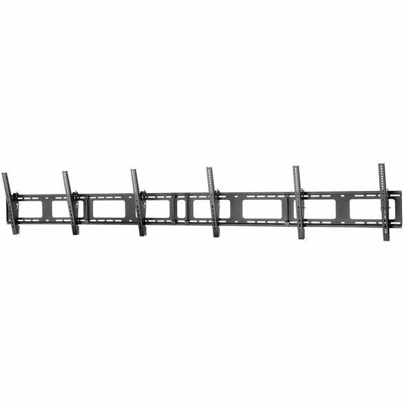 "Triple-Display TV Wall Mount - Menu Board Mount - Landscape - For 40"" to 50"" VESA Mount Displays - 5 Tilt Settings - Digital Signage Mount - Triple Monitor Wall Bracket"