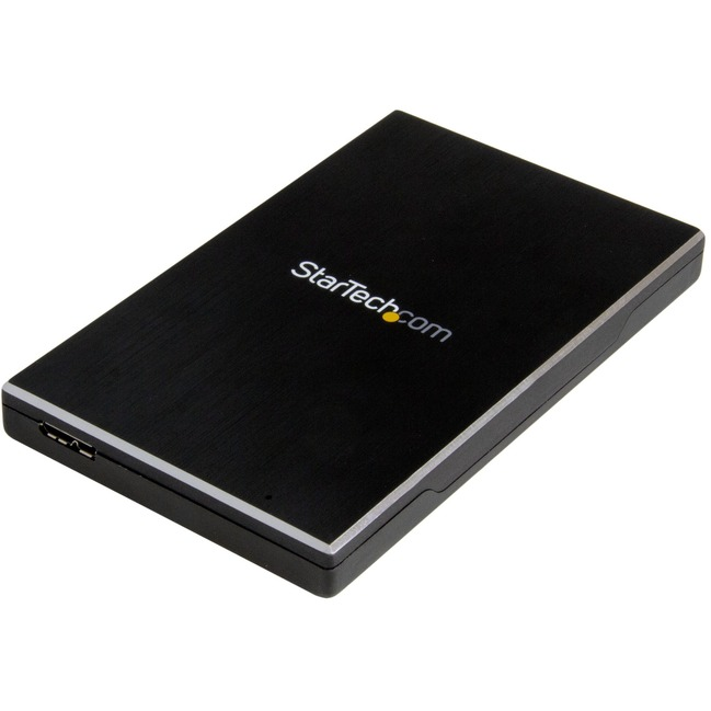 """USB 3.1 Gen 2 (10 Gbps) Enclosure for 2.5"""" SATA Drives - Ultra-fast, Portable Single-Drive Enclosure for SSD/HDD - Aluminum"""