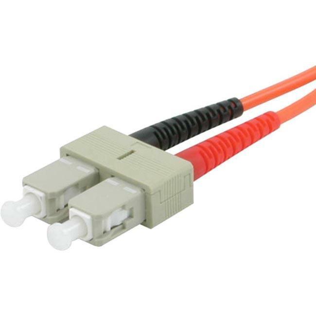 2m SC-ST 62.5/125 OM1 Duplex Multimode PVC Fiber Optic Cable | Orange