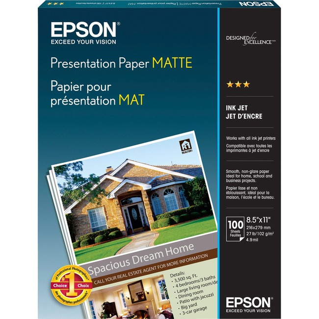 Epson Photo paper - Letter A Size (8.5 in x 11 in) - 105 g/m2