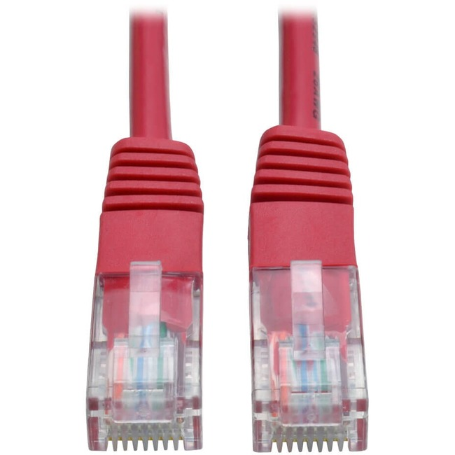 TRIPP LITE 10FT CAT5E RED MOLDED RJ45 M/M PATCH CABLE 350MHZ