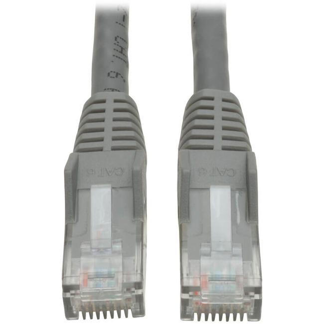 Tripp Lite 3ft Cat6 Gigabit Snagless Molded Patch Cable RJ45 M/M Gray 3'