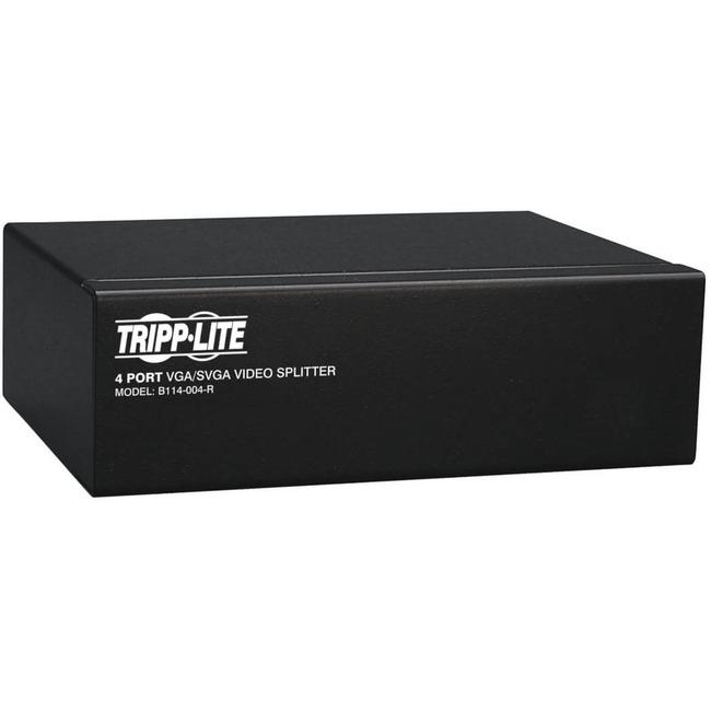 Tripp Lite 4-Port VGA Splitter with Signal Booster, High Resolution Video