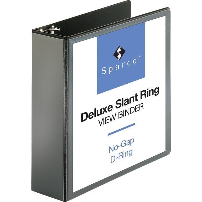 Sparco Deluxe Slant Ring View Binders