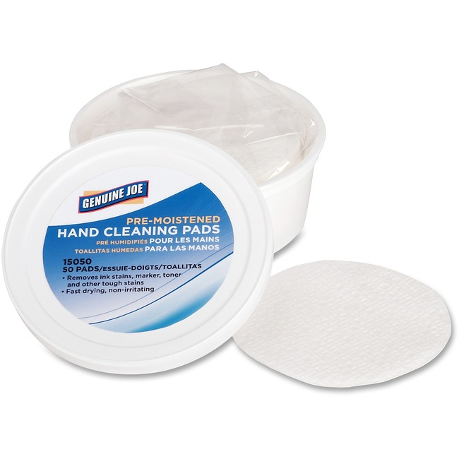 Genuine Joe Pre-moistened Hand Cleaning Pads