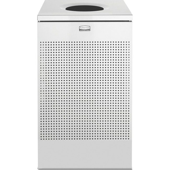 Rubbermaid Commercial Stainless Steel Hinged Top Receptacle