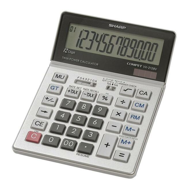 Sharp Calculators VX-2128V 12-Digit Commercial Desktop Calculator