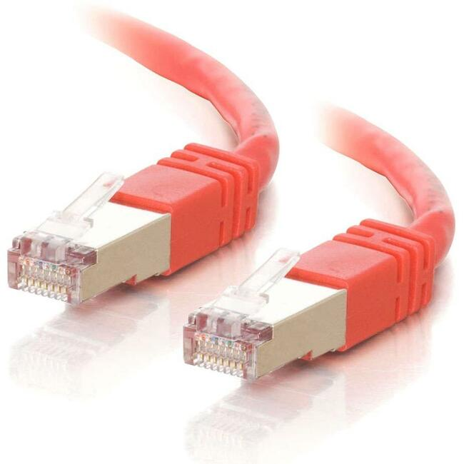 100ft Cat5e Molded Shielded (STP) Network Patch Cable - Red