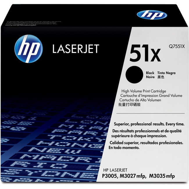 HP 51X Toner Cartridge - Black - Laser - 13000 Page - 1 Each