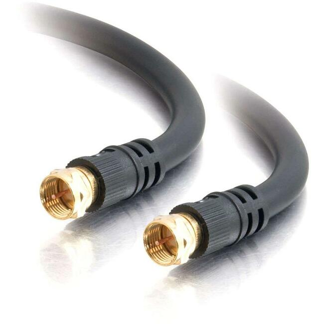 Video Cable - F connector - Male - F connector - Male - 12 feet - Black - Coaxia