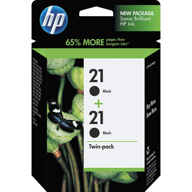 HP 21 Twinpack Black Ink Cartridge