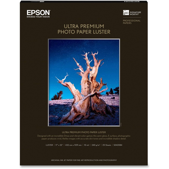 Photo Paper - 17 inch x 22 inch - 25 sheets