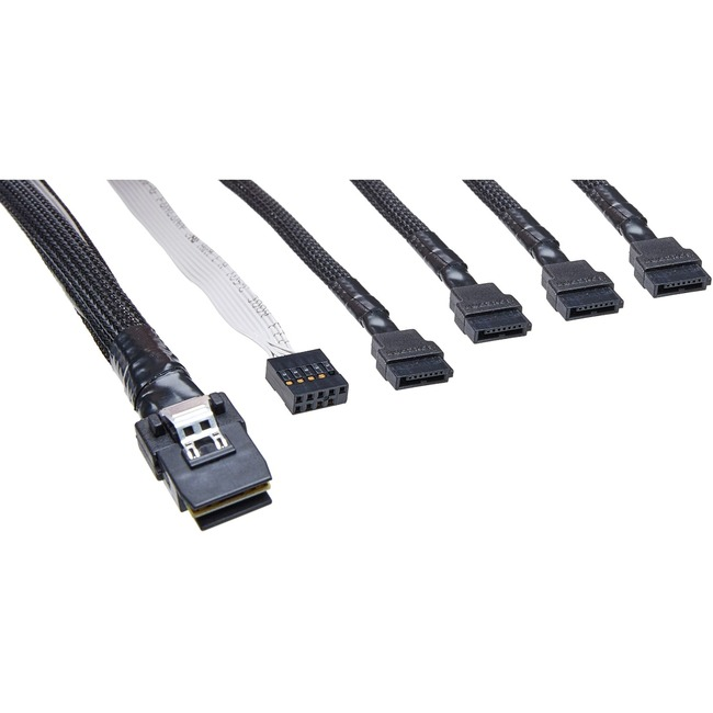 Black - 1.6 ft M to 26 Pin 4X Mini SAS M AddOn ADD-SFF8088-8088-0.5M SAS External Cable 26 Pin 4X Mini SAS