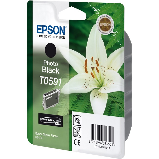 Epson UltraChrome T0591 Ink Cartridge - Photo Black