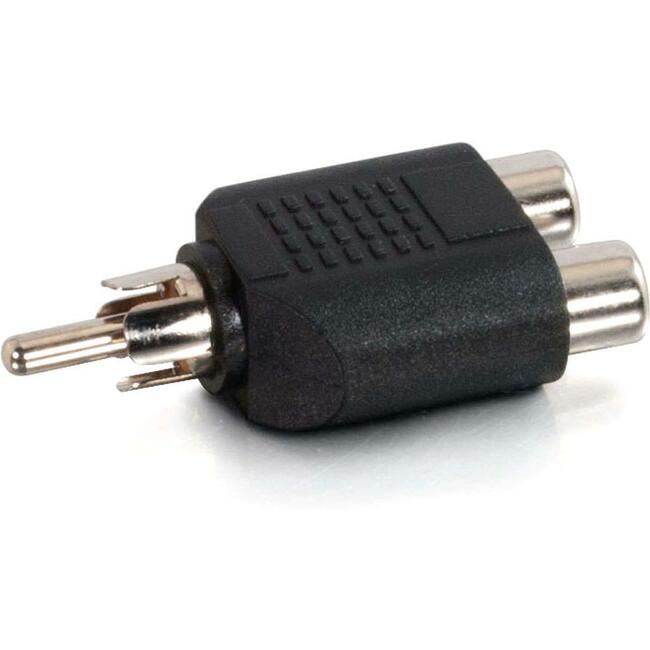 C2G One RCA Mono Male to Two RCA Mono Female Audio Adapter