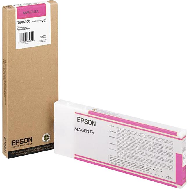 Epson T606300 220 ml Magenta UltraChrome Ink Cartridge