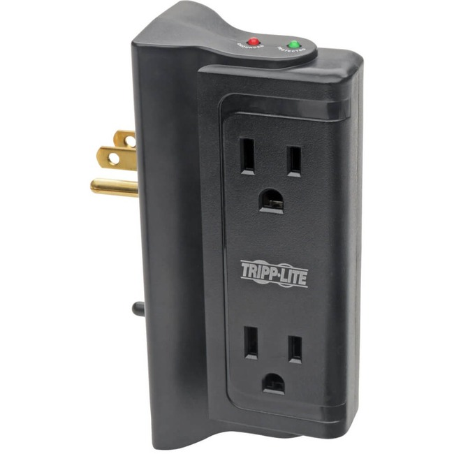 Tripp Lite 4 Outlet Surge Protecter Strip with 4 Side Mounted Outlets