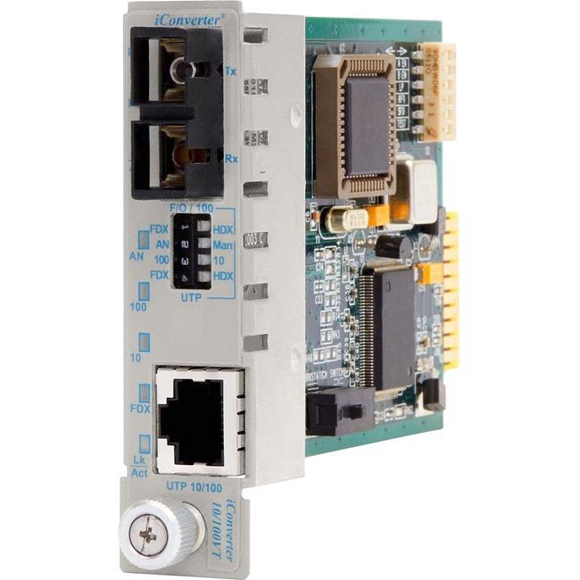 Omnitron iConverter 10/100VT Transceiver/Media Converter 8803-1 - Large