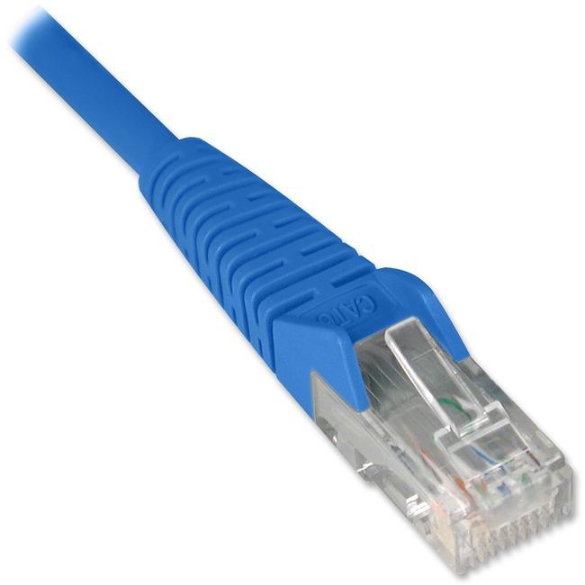 Tripp Lite 1ft Cat6 Gigabit Snagless Molded Patch Cable RJ45 M/M Blue 1'